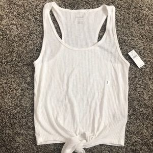 Aerie ribbed tie knot tank